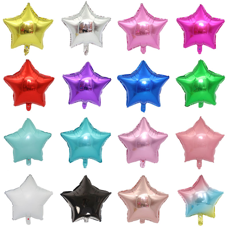 1pc 18inch Star Heart Inflatable Helium Balloon For Birthday Party Decorations 1