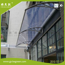 YP100240 100x240cm 39X94.5″ Canopy awning door shelter Polycarbonate awning rain shelter ,door canopy, CE certified