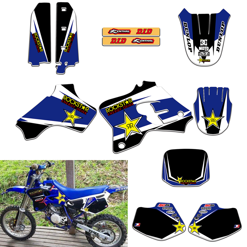RockStar TEAM GRAPHICS DECALS STICKERS For Yamaha YZ80 1993 1994 1995 1996 1997 1998 1999 2000 2001 Motorcycle Racing Kits