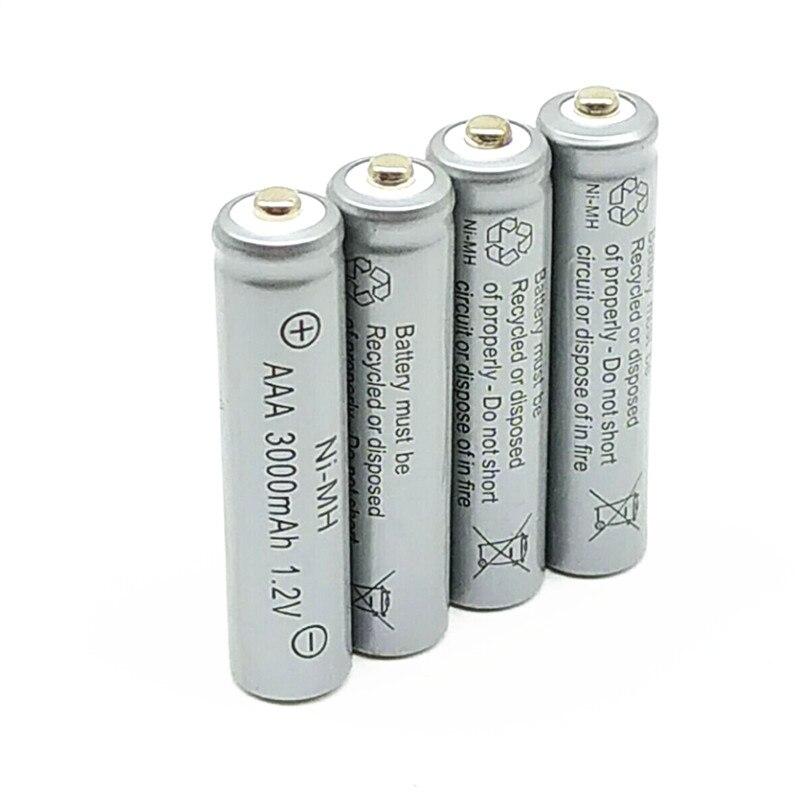 4/6/10/14pcs/Lot 1.2V  3000mAh NiMh AAA Rechargeable Battery Ni-mh 3a Batteries Battria FREE Shipping