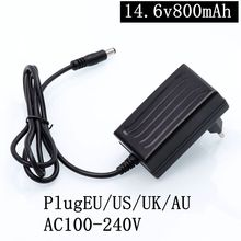 1PC best price 14.6v 800mAh lithium battery charger for 13.8V800mAhseries 5 with LED light s
