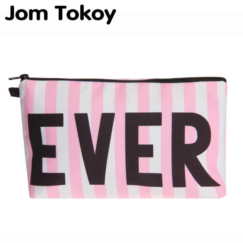 Jom Tokoy 3D Printing Cosmetic Organizer Bag Fashion Women Brand Makeup Bag Pink Cosmetic Bag
