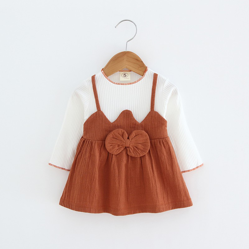 Baby Girl Dresses Autumn Baby girls clothes princess girls dress BOW patchwork Kids Clothes Children Party dresses цены