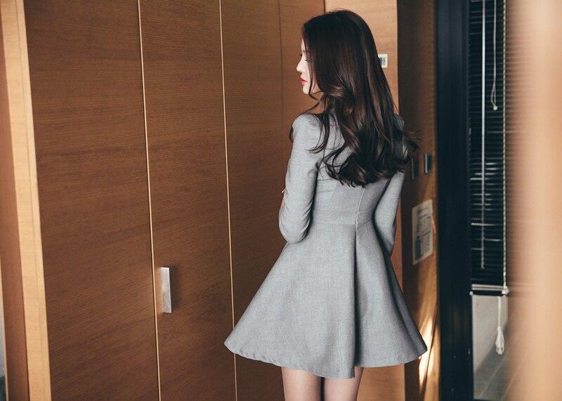 Ufficio Elegante Vita : Elegante v neck sexy abiti da lavoro uniforme donne a line signore