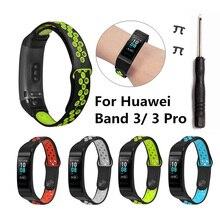 Pulseira de pulseira de relógio de silicone para huawei banda 3/3 pro gdeals