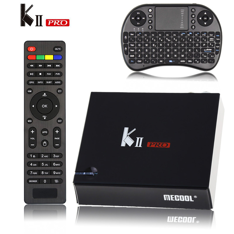 [Genuine] KII Pro Tv Box DVB-T2 DVB T2+S2 Amlogic S905 Quad-core 2GB/16GB Android 5.1 Tv Box Bluetooth 2.4G/5G Wifi Set Top Box k1 dvb s2 android 4 4 2 amlogic s805 quad core tv box