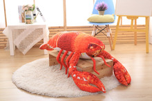 small plush lobster toy cute simulation red lobster doll gift about 55cm