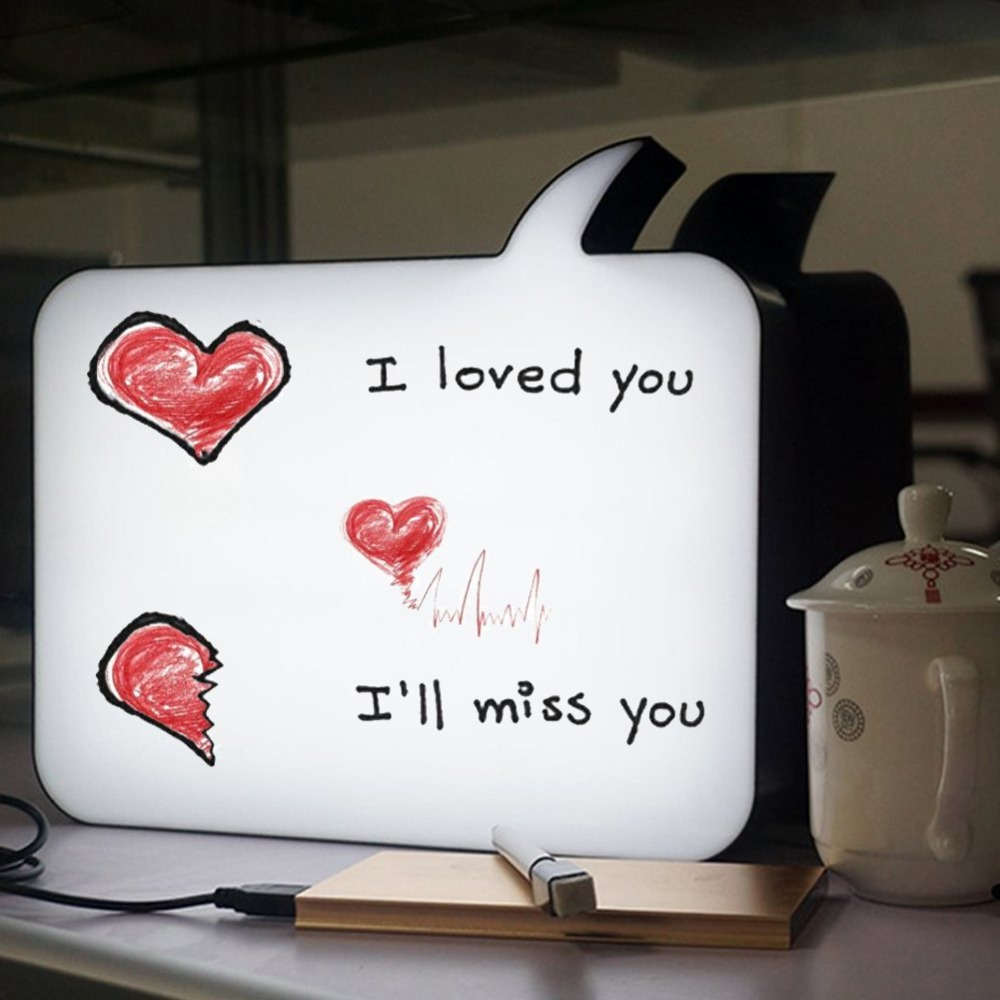 Wrumava Advertising letter Light box A4 Size Cinematic LED Message Handwriting Light Box ...