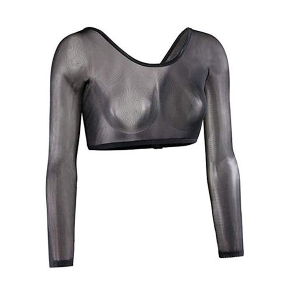 2019 Zomer Katoen Korte Mouw Vrouwen Lange Mouwen Crop Tops T-shirt Mesh Tops Vest