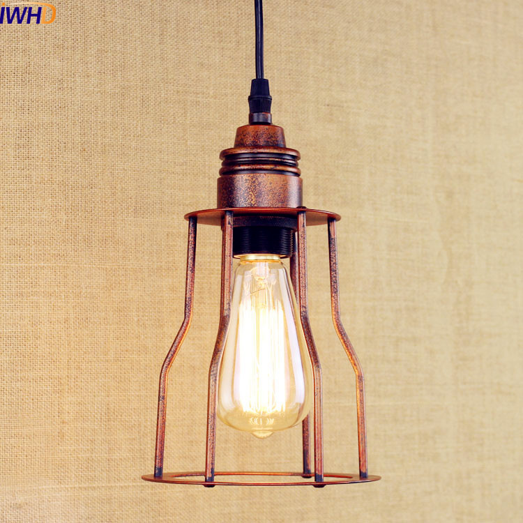 IWHD Rustic Edison LED Pendant Lights Dinning Room Style Loft Industrial Pendant Lighting Fixtures Vintage Lamp Luminaire 2pcs american loft style retro lampe vintage lamp industrial pendant lighting fixtures dinning room bombilla edison lamparas