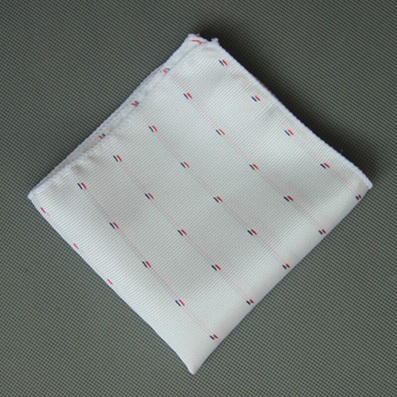 Mantieqingway 23*23CM Cotton Handkercheifs Fashion Causal Polka Dots Pocket Square Black Printed Hankies For Wedding Party Hanky