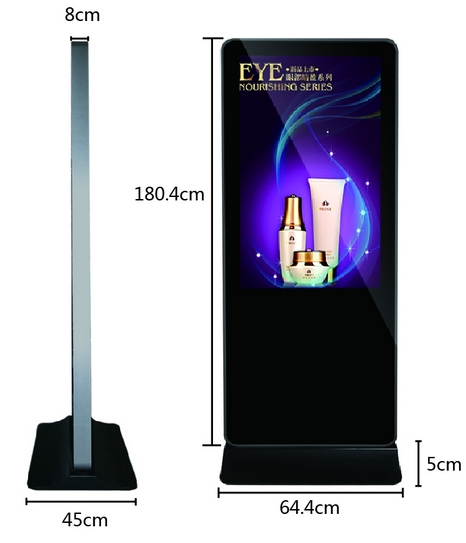 Floor Standing 42 46 55 Inch Adverting Display Wechat Commercial Digital Touch Screen Kiosk Advertising Screen Display
