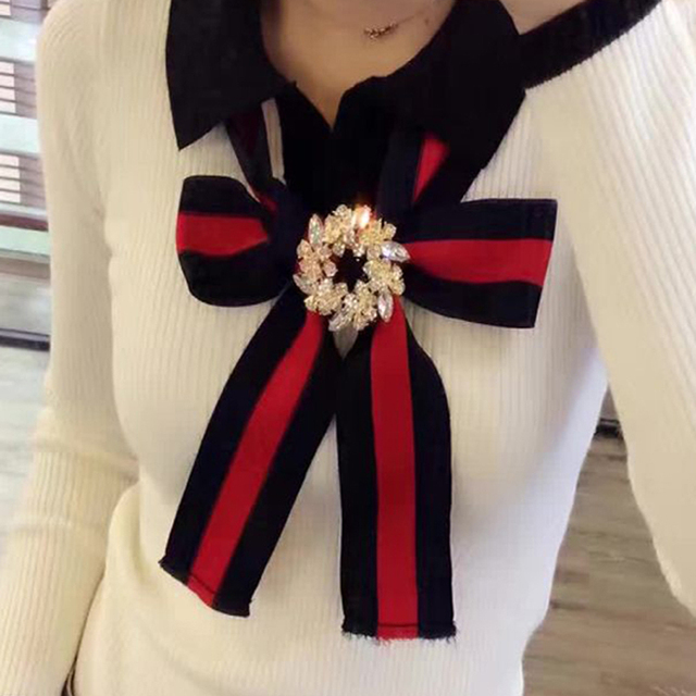 HIGH QUALITY Newest Fashion 2016 Fall Winter Designer Sweater Women's Long Sleeve Bow Knitting Bodysuit Sweater
