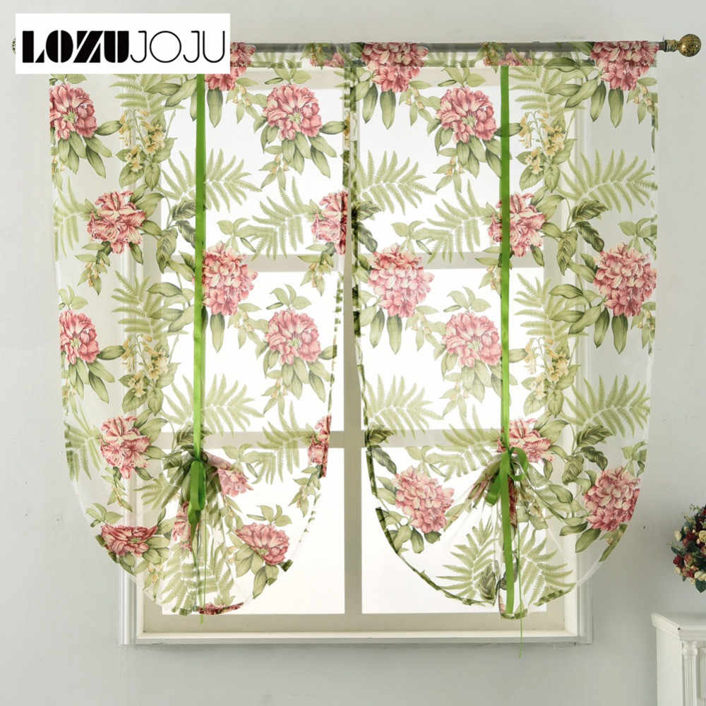 LOZUJOJU Bedroom Treatment Door Kitchen Curtain Room Organza Living Rod Decoration Green tulle Short Pocket Fabric Home Window