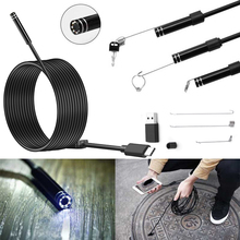5.5mm Type C USB Android Endoscope Camera 7M Flexible Hardwire Inspection Snake USB TypeC Android Phone Camera Borescope 6LED