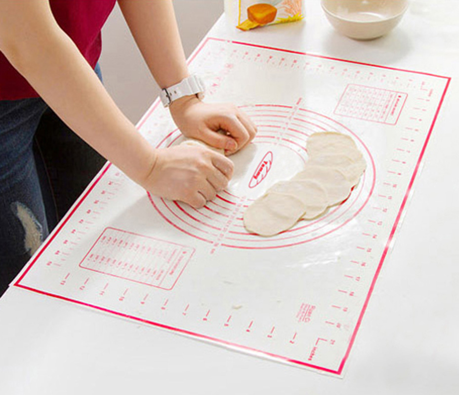 Non-Stick Silicone Baking Mats Sheet For Oven Scale Rolling Dough Mat Kitchen Gadgets Cooking Tools Utensils Bakeware Accessorie(China)
