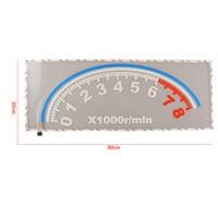 30cm*80cm 12V Colorful Dashboard LED Flash Stickers Car Music Rhythm Flash Lamp Light Sticker
