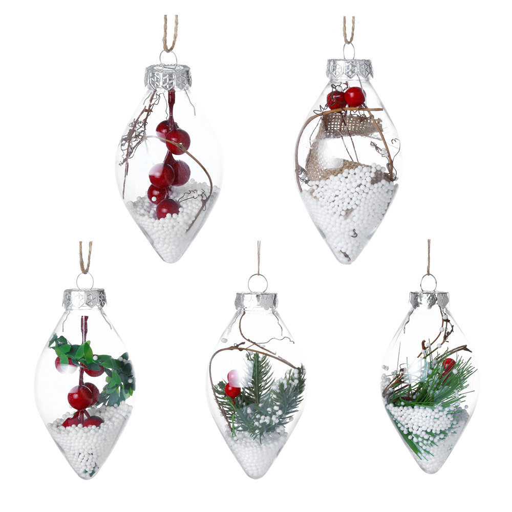 Christmas Tree Drop Ornaments Home Hanging Xmas Pendant ...