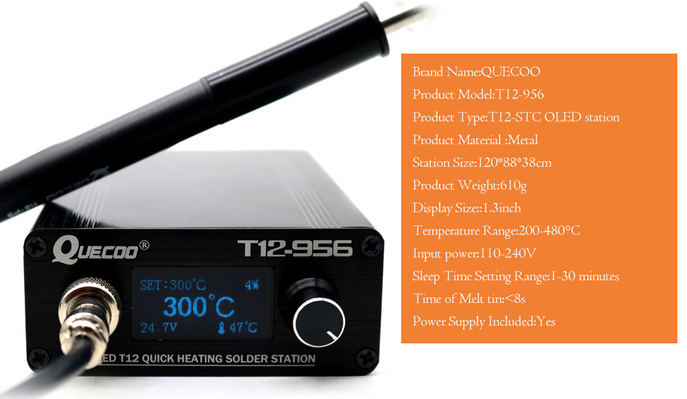 lowest price STC T12-956 Soldering Station Electronic Soldering iron OLED Digital station T12 solder iron tip with T12-P9 handle NO plug