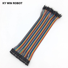 Dupont line 40pcs 20cm 2.54mm 1p-1p Pin Female to Male Color Breadboard Cable Jump Wire Jumper For Arduino