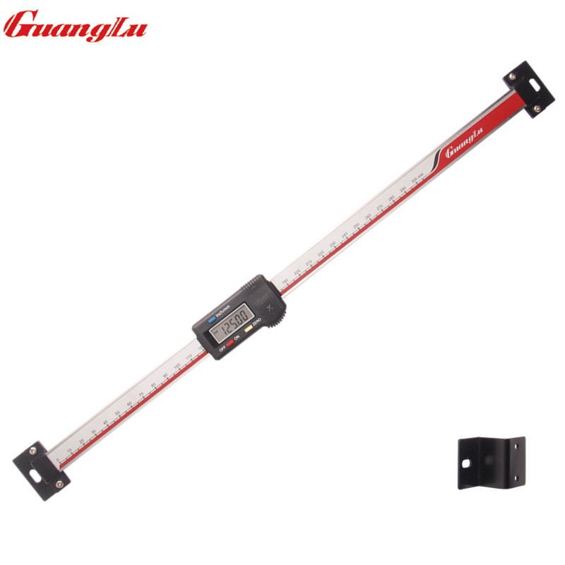 GUANGLU Digital Scale Unit 0-300mm Horizontal Type LCD Display Inch/MM Stainless Steel Machinist Tools