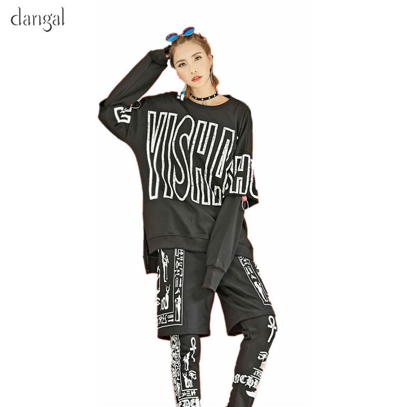 Dangal Long-sleeved Pullovers Hoodies Girls Clothing Hip Hop Sweatshirt Sweatshirts for Women Jersey Long Sleeve O Neck Female