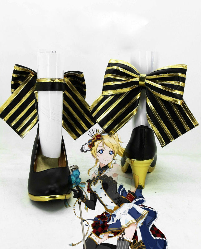 Anime lovelive! Eli Ayase SR Boots Cosplay Shoes for Costume Custom Made Halloween Free Shipping