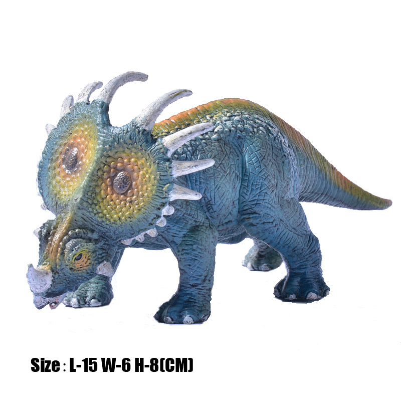 Classic Jurassic Solid PVC Carnivorous Dinosaurs Model Triceratops Tyrannosaurus Rex Action Figures Toy For Kids Xmas Gift oenux jurassic carnivorous giganotosaurus t rex mouth can open pvc dinosaurs model action figures toys for boy s gift