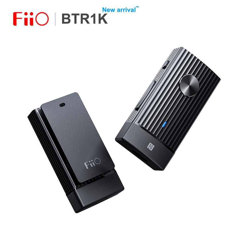 FIIO BTR1K Wireless Bluetooth 5.0 Portable Headphone Amplifier Noise-Cancelling USB DAC Audio Receiver With MIC Support NFC