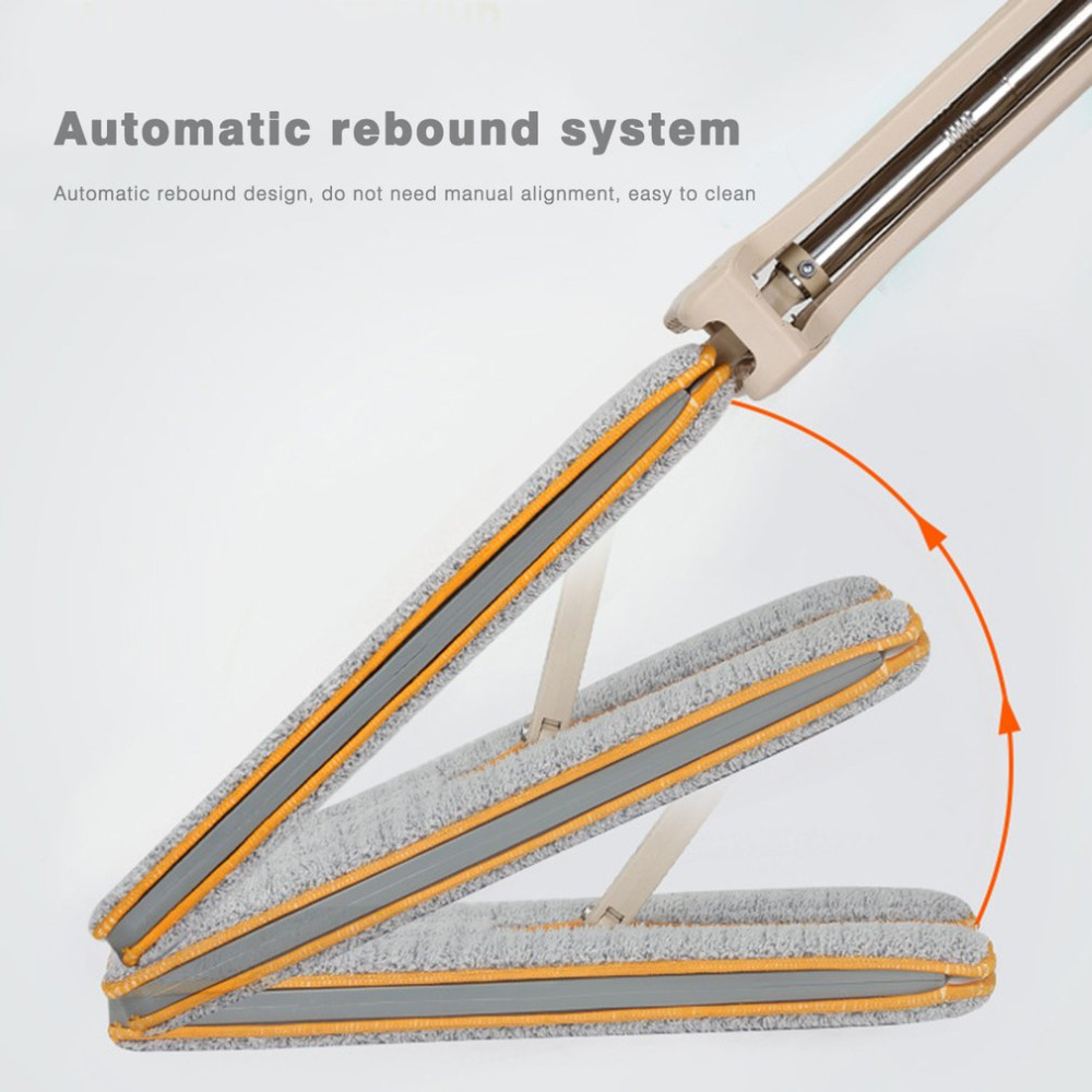 2018 New Self-Wringing Double Sided Flat Mop Telescopic Comfortable Handle Mop Floor Cleaning Tool For Living Room Robotic drop shipping self wringing double sided flat mop telescopic comfortable handle mop floor cleaning tool for living room kitchen