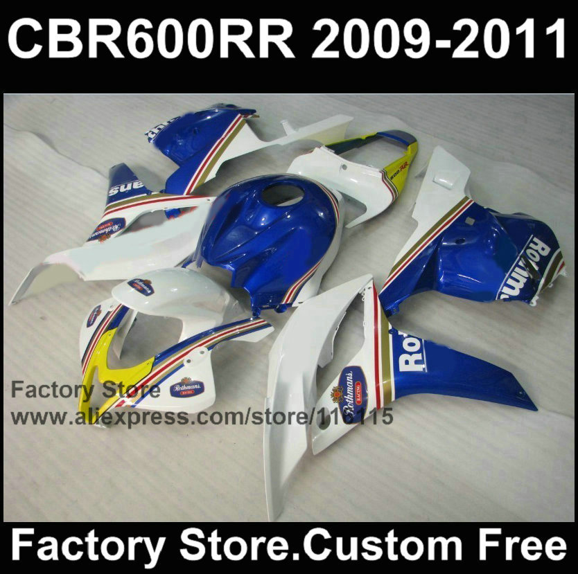 Custom 100% Injection motor ABS fairings kit for HONDA F5 CBR600RR 2008 2009 2010 2011 Rothmans fairing bodykits CBR 600RR 08-12 arashi motorcycle radiator grille protective cover grill guard protector for 2008 2009 2010 2011 honda cbr1000rr cbr 1000 rr