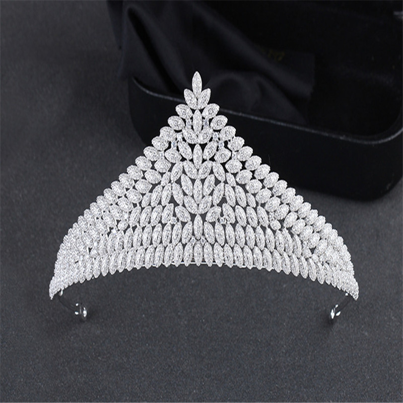 2017 New Fashion Europe and United States Foreign Trade Jewelry High-end Bridal Headdress Micro Inlay Zircon Crown HF -G001 спортивная футболка foreign trade and exports ni ke