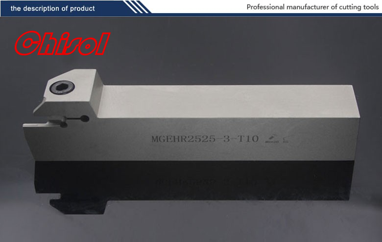 CNC lathe parting and grooving tool holder cut off tools MGEHL2525-3-T10/MGEHR2525-3-T10 for slotting carbide inserts MGMN300-M 2mm wide blade cutter rod 12mm outer diameter cutting arbor external grooving lathe tool holder width grooving parting cutting