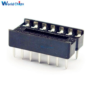 10pcs DIP 14 pins IC Socket Adaptor Adapter Solder Type Socket DIP-14