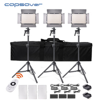 capsaver TL 600AS LED Video Light 3 in 1 Kit Photography Lighting Bi color Photo Lamp Dimmable 3200K 5600K CRI 95 Remote Control