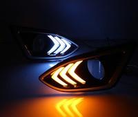 Dongzhen 1 пара автомобилей внешний свет DRL дневные Бег дальнего света поворотов лампочка для Ford Edge 2015 2016