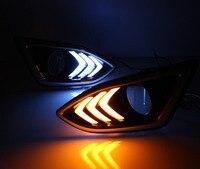 Dongzhen 1pair LED Car External Light DRL Daytime Running Light Driving Lamp Turn Signal Light Bulb for Ford Edge 2015 2016