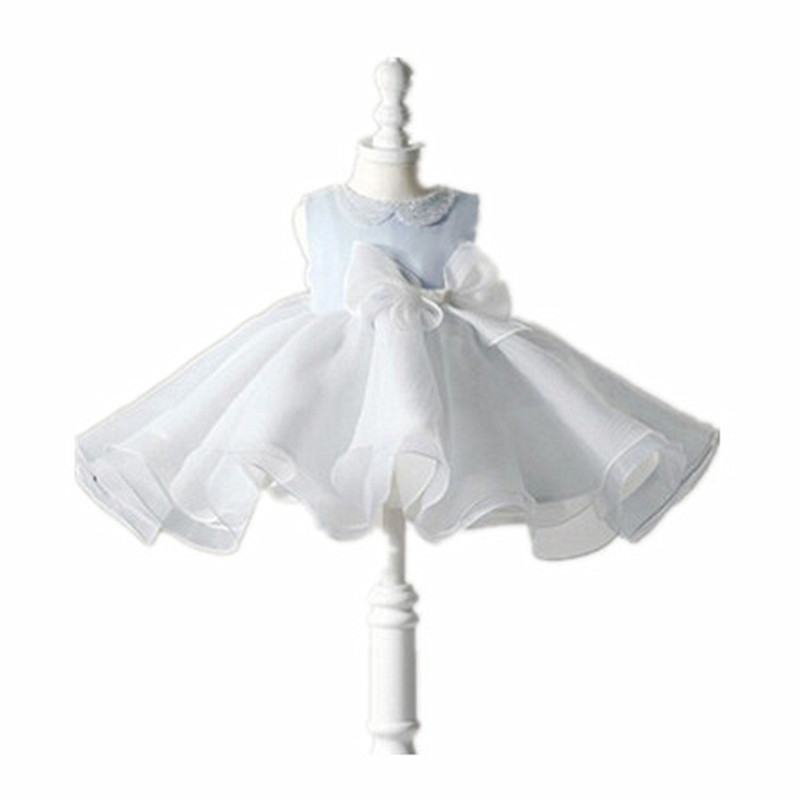 ФОТО BBWOWLIN Baby Clothes Light Blue Princess Baby Girls Dress for Christmas Christening Gowns First Communion 80127