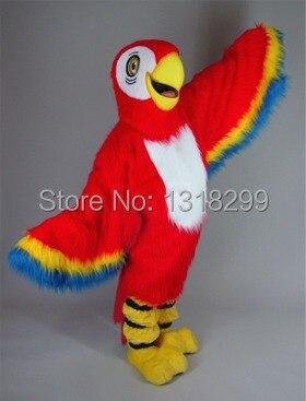 Талисман Красный Ара Попугай костюм талисмана необычные платья пользовательские фантазии косплей костюм тема mascotte карнавальный костюм