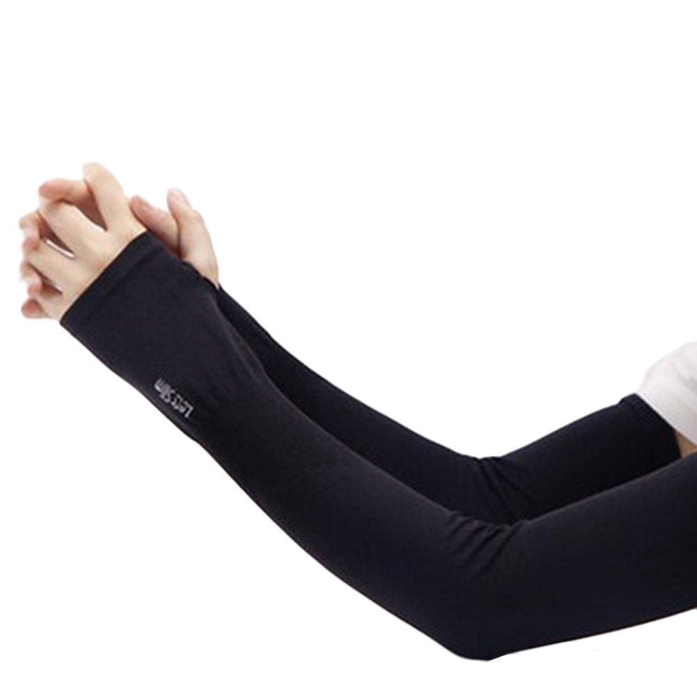 Section Drove UV Sunscreen Half Finger Cuff Sunscreen Arm Sleeves Hand Protection Women Men Fingerless Long Gloves