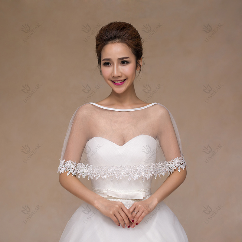 vente chaude livraison gratuite blanc dentelle de marie bolero veste lgante pas cher tulle de mariage - Bolero Mariage Blanc