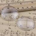 35 мм Толщина: 8.5 мм Круглый Плоской Задней Прозрачное Стекло Кабошон Купол Камея Ювелирных Нахождения 2 шт./лот (K02905)