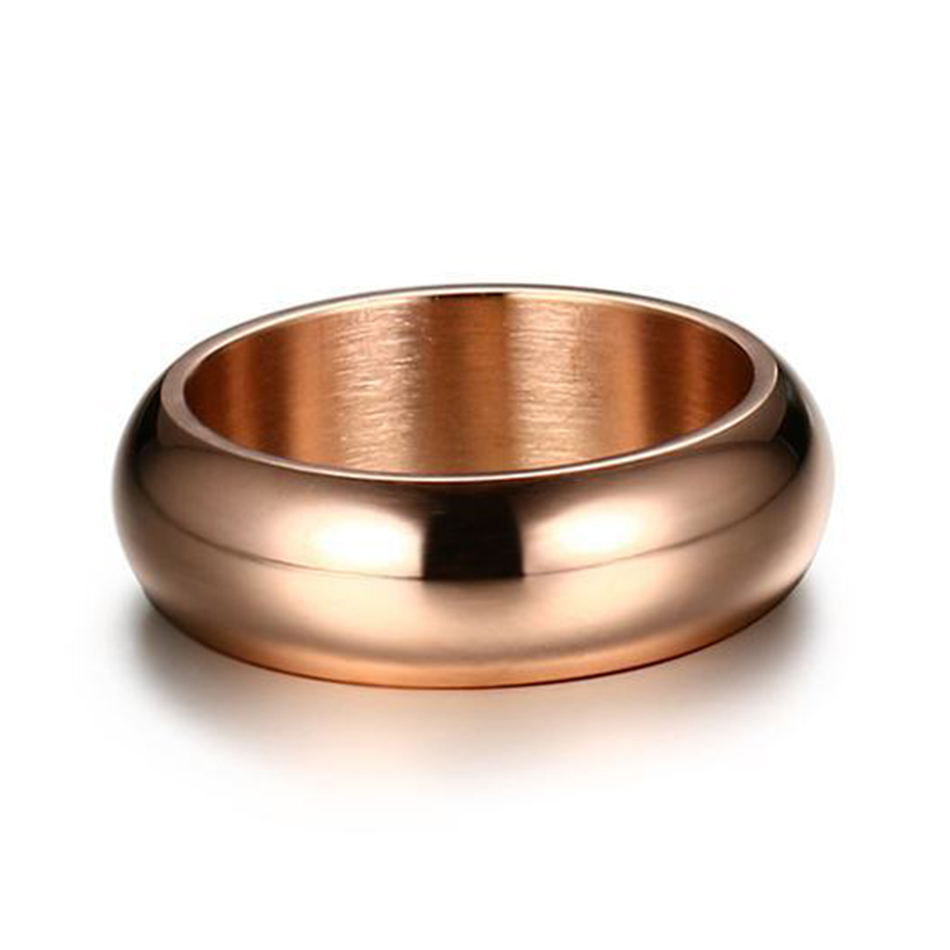 Gold Color Plated Rings For Men and Women 2018 Trendy Jewelry Blue Black Rose Gold Color Titanium Ring Solid Wedding Jewellery
