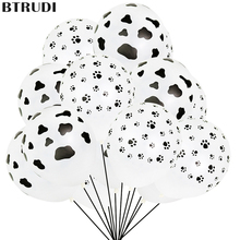 купить BTRUDI 10pcs printed latex balloons white cow feet balloons happy birthday Children's Day party decoration accessories balloon дешево