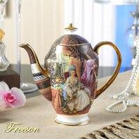 영국 로얄 빈티지 뼈 중국 차 주전자 유럽 도자기 커피 주전자 1000ml 세라믹 주전자 카페 티 타임 drinkware|pot tea|pot vintagepot ceramic -