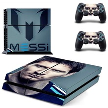 Football Star Lionel Messi PS4 Skin Sticker Decal Vinyl for Sony Playstation 4 Console and 2 Controllers PS4 Skin Sticker