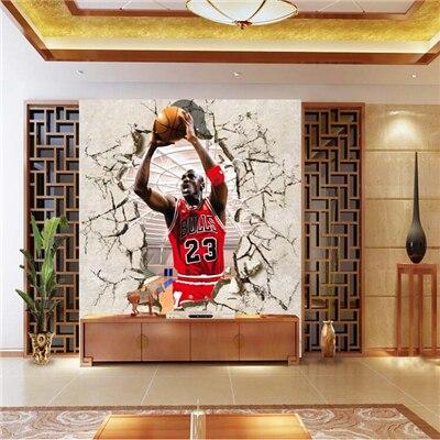 3 D Papel De Parede Varanda NBA Estrela De Basquetebol Michael Jordan De  Ginástica Grande Quarto Part 59