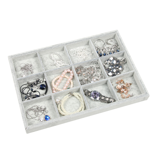 Image result for jewelry display tray velvet gray 12