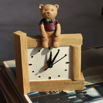 lovely Bear pastoral table clock  Exquisite home furnishings clock