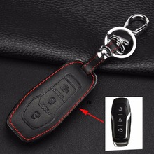 3 Buttons Remote Car Key Case Cover Leather For Ford Mustang Taurus New Mondeo Smart Shell Sharp Control